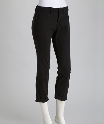 Black Billie Cropped Jeans