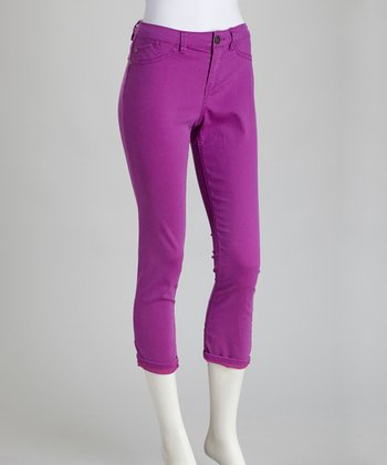 Deep Orchid Billie Stretch Cropped Jeans