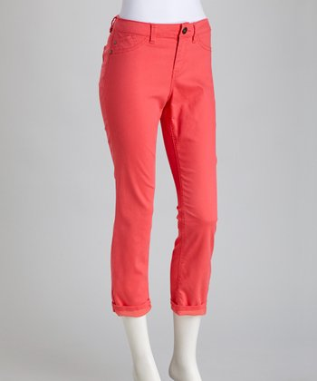 Calypso Coral Billie Stretch Cropped Jeans