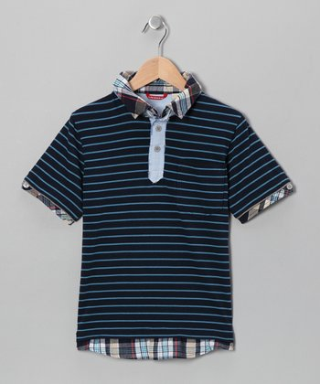 Nucleus Stripe Polo - Boys