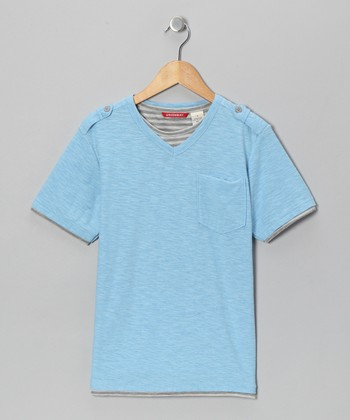 Blue Nile V-Neck Tee - Boys