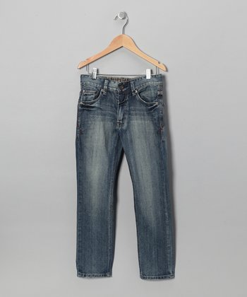 Light Wash Caspian Straight-Leg Jeans