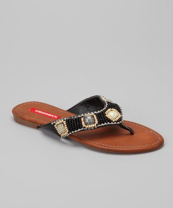 Black Gennie Sandal