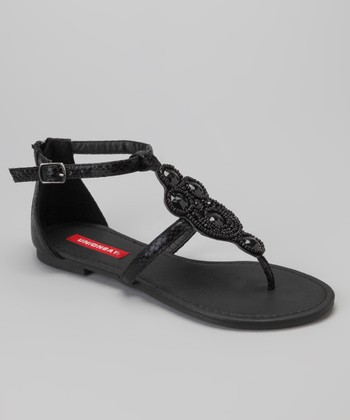 Black Regal Sandal