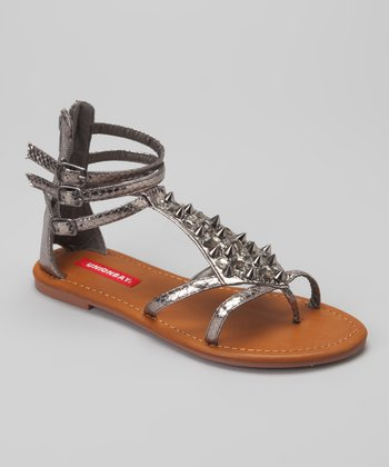 Pewter Rocker Gladiator Sandal