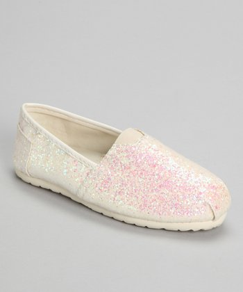 White Glitter Shelby Slip-On Shoe
