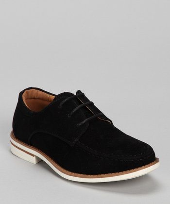 Black Faux Suede Shoe