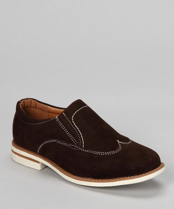 Brown Faux Suede Slip-On Shoe