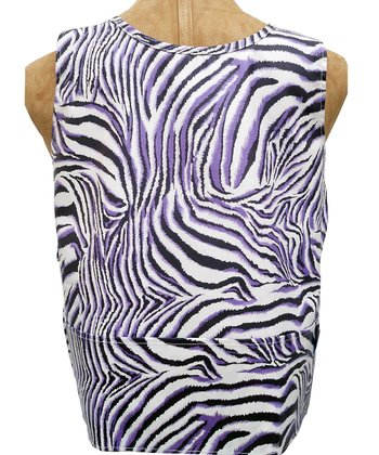 Purple Zebra Smock - Kids
