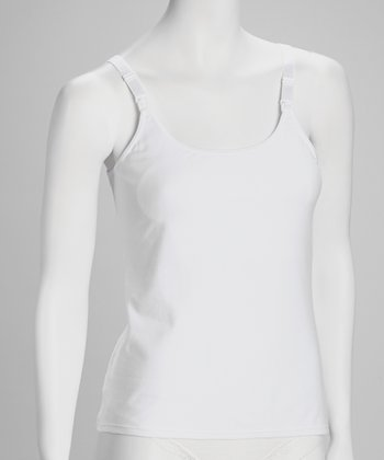 White Seamless Nursing Camisole Set - Women & Plus