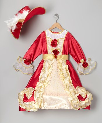 Red Noble Lady Dress-Up Set - Toddler & Girls