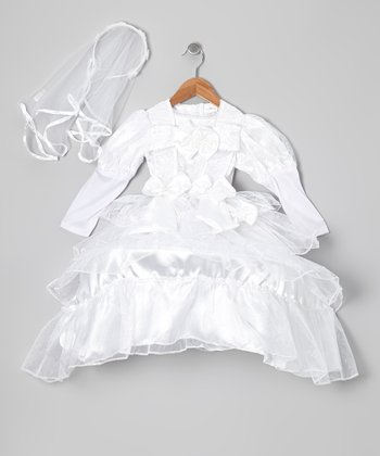 White Royal Bride Dress-Up Set - Toddler & Girls