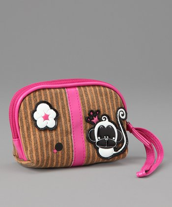 Pink Chic Monkey Coin Purse