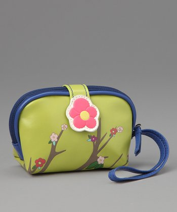 Green Sakura Coin Purse