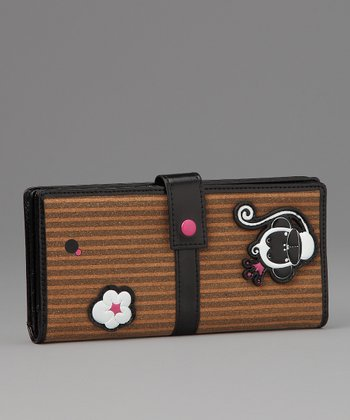 Black Chic Monkey Large Wallet