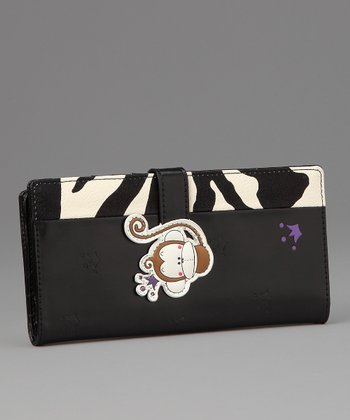 Black Matty Large Wallet
