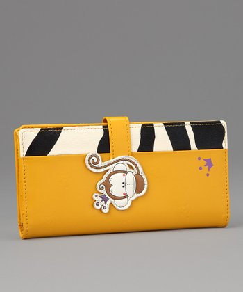 Yellow Matty Large Wallet
