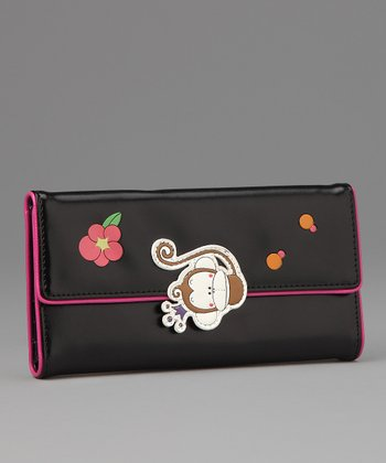 Black Faye Large Wallet