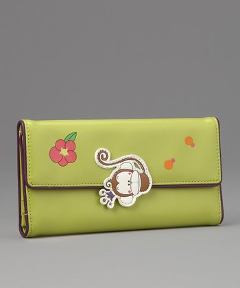 Green Faye Large Wallet