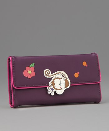 Purple Faye Large Wallet