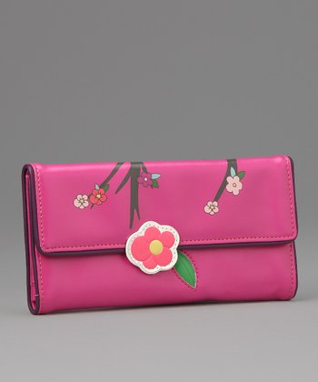 Pink Sakura Large Wallet