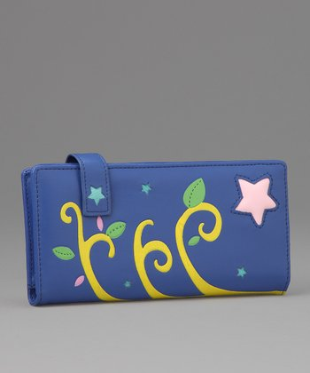 Blue Starry Large Wallet