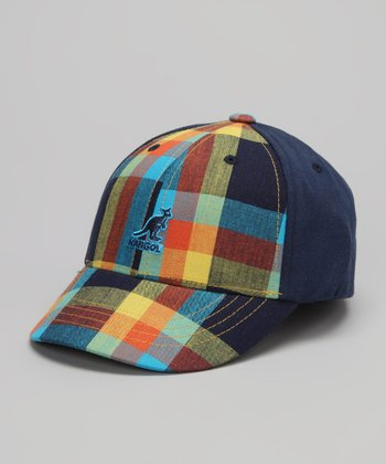 Navy Plaid Baseball Cap