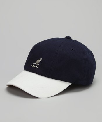 Navy & White Baseball Cap