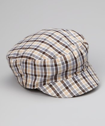 Preppy Checkerboard Mau Newsboy Hat