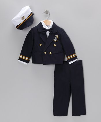 Navy Captain Pants Set - Infant, Toddler & Boys