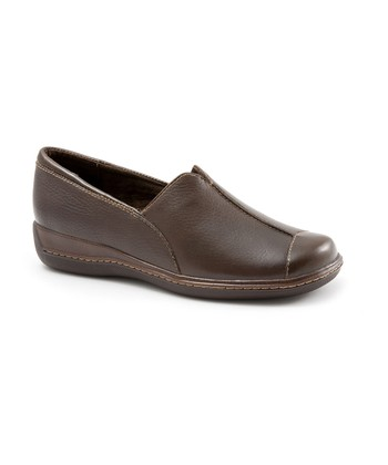 Brown Leather Sandee Slip-On Shoe