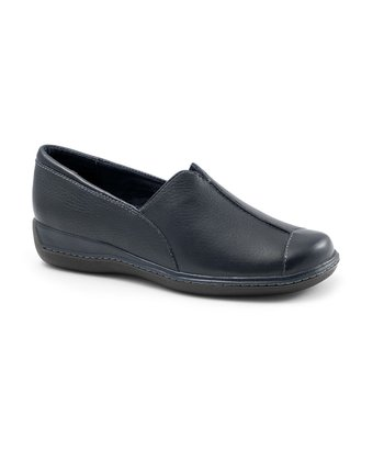 Navy Leather Sandee Slip-On Shoe