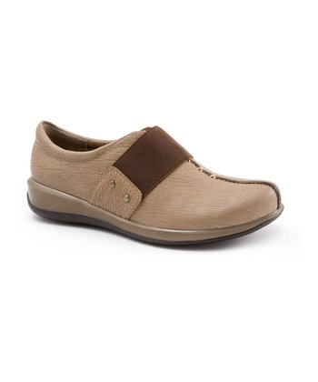Dark Taupe Leather Tanner Slip-On Shoe