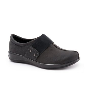 Black Leather Tanner Slip-On Shoe