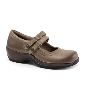 Taupe Leather Abilene Mary Jane
