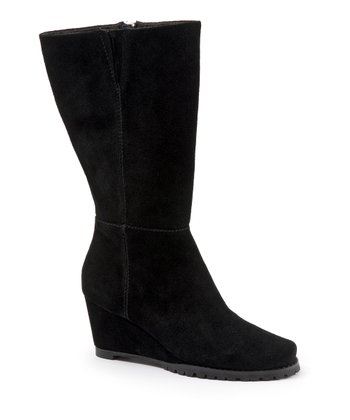 Black Suede Dawson Wedge Boot