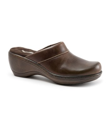 Tan Waxy Leather Murietta Clog