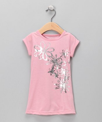 Creations Robo Pink Flower Nightgown - Toddler & Girls