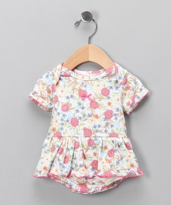 Vintage Floral Skirted Bodysuit - Infant