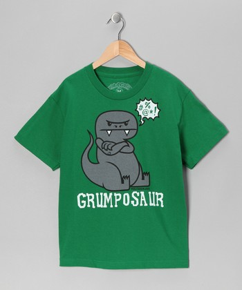 Kelly Green 'Grumposaur' Tee - Toddler & Boys