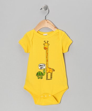 Yellow 'What's Up?' Bodysuit - Infant
