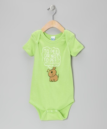 Lime Green 'To Pee or Not to Pee' Bodysuit - Infant