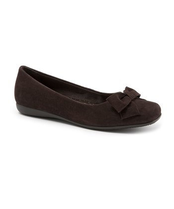 Dark Brown Suede Sonia Ballet Flat