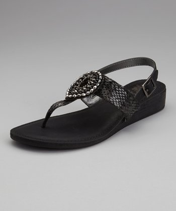 Black Evita Sandal - Women