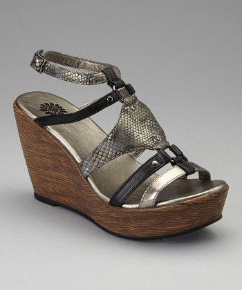 Black Jardina Wedge Sandal