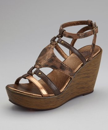 Brown Jardina Wedge Sandal
