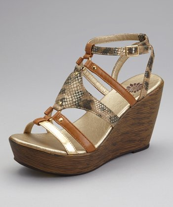 Chestnut Jardina Wedge Sandal
