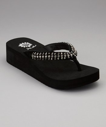 Black Leala Wedge Sandal