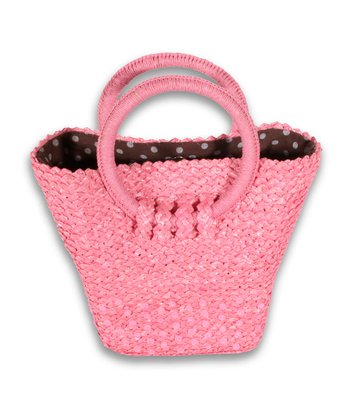 Pink & Brown Dots Small Greenwich Tote