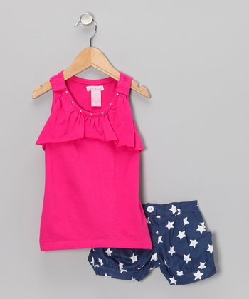 Fuchsia Tank & Star Shorts - Infant